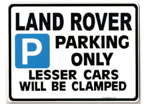 LAND ROVER Car Parking  Sign - Gift for DISCOVERY tdi 110 90 models - Size Large 205 x 270mm